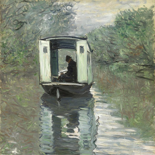 Claude Monet, The Studio Boat (Le Bateau-atelier), 1876