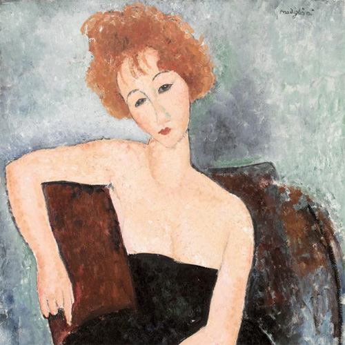 Amedeo Modigliani, Redheaded Girl in Evening Dress