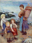 Pierre-Auguste Renoir - Mussel-Fishers at Berneval, 1879 height=