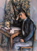 Paul Cézanne - Young Man and Skull (Jeune homme à la tête de mort) height=