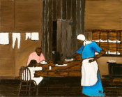 Horace Pippin - Supper Time, c. 1940