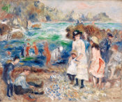 Pierre-Auguste Renoir - Children on the Seashore, Guernsey, 1883
