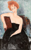 Amedeo Modigliani - Redheaded Girl in Evening Dress, 1918 height=