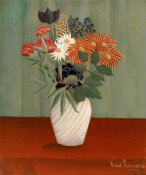 Henri Rousseau - Bouquet of Flowers with China Asters and Tokyos, 1910