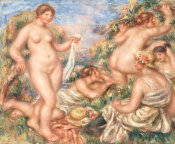 Pierre-Auguste Renoir - Composition, Five Bathers, c. 1918