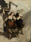 Honoré Daumier - The Ribalds (Les Ribaudes), 1848-1849