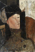 Amedeo Modigliani - Beatrice (Portrait de Béatrice Hastings), 1916