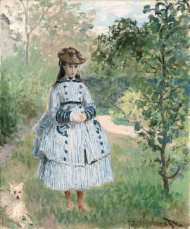 Claude Monet - Girl with Dog, 1873