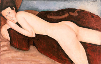 Amedeo Modigliani - Reclining Nude from the Back (Nu couché de dos), 1917