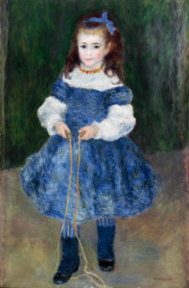 Pierre-Auguste Renoir - Girl with a Jump Rope (Portrait of Delphine Legrand), 1876