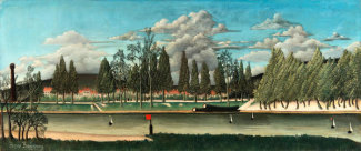 Henri Rousseau - View of the Quai d' Asnières, 1900
