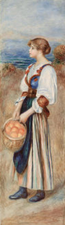 Pierre-Auguste Renoir - Girl with Basket of Oranges (Marchande d'oranges), c. 1890