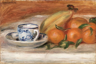 Pierre-Auguste Renoir - Oranges, Bananas, and Teacup (Oranges, bananes et tasse de thé), c. 1908