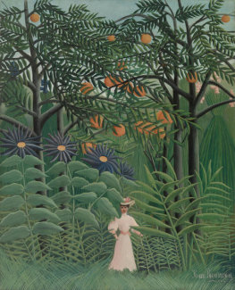 Henri Rousseau - Woman Walking in an Exotic Forest (Femme se promenant dans une forêt exotique), 1905