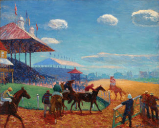 William James Glackens - Race Track, 1908 - 1909