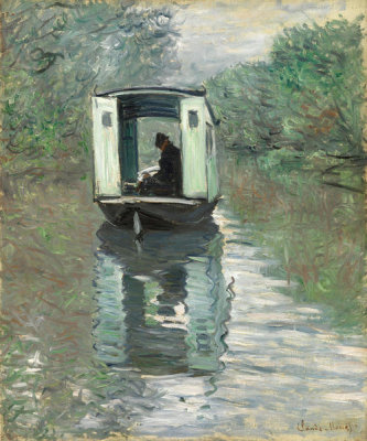 Claude Monet - The Studio Boat (Le Bateau-atelier), 1876