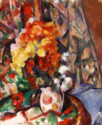 Paul Cézanne - The Flowered Vase (Le Vase Fleuri), 1896-1898