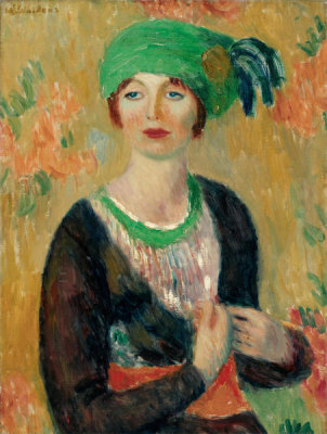 William James Glackens - Girl in Green Turban, c. 1913