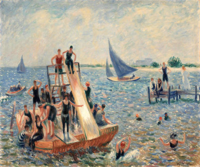 William James Glackens - The Raft, 1915