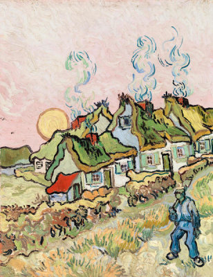 Vincent van Gogh -  Houses and Figure, 1890