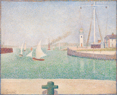 Georges Seurat - Port of Honfleur, 1886
