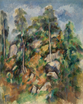 Paul Cézanne - Rocks and Trees (Rochers et arbres), c. 1904