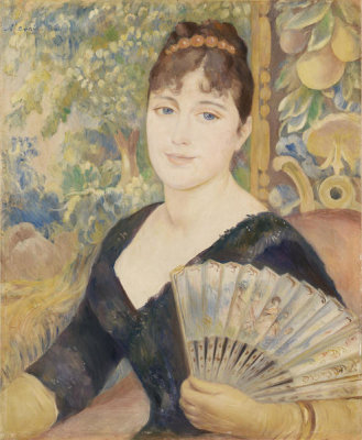 Pierre-Auguste Renoir - Woman with Fan (Femme à l'éventail), 1886