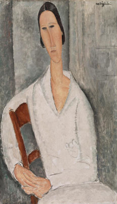 Amedeo Modigliani - Madame Hanka Zborowski Leaning on a Chair (Madame Hanka Zborowski accoudée à une chaise), 1919