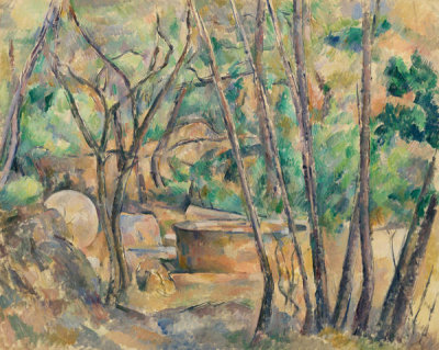 Paul Cézanne - Millstone and Cistern under Trees (La Meule et citerne en sous-bois), 1892-1894