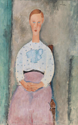Amedeo Modigliani - Girl with a Polka-Dot Blouse (Jeune fille au corsage à pois), 1919