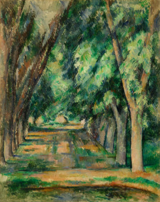 Paul Cézanne - The Allée of Chestnut Trees at the Jas de Bouffan, c. 1888