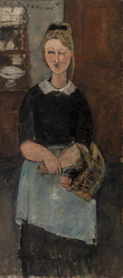 Amedeo Modigliani - The Pretty Housewife (La Jolie ménagère), 1915