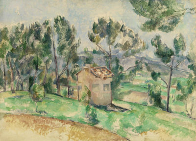 Paul Cézanne - Hunting Cabin in Provence (Cabane de chasse en Provence), 1888-1890