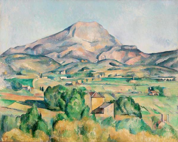 mont saintevictoire la montagne saintevictoire 1892